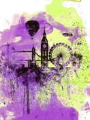 NAXART Studio - London Watercolor Skyline 1
