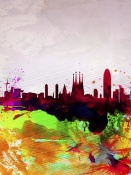 NAXART Studio - Barcelona Watercolor Skyline