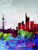 NAXART Studio - Frankfurt Watercolor Skyline
