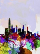 NAXART Studio - Hong Kong Watercolor Skyline