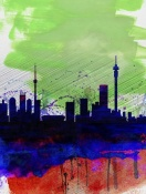 NAXART Studio - Johannesburg Watercolor Skyline