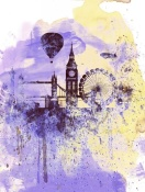NAXART Studio - London Watercolor Skyline