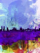 NAXART Studio - Madrid Watercolor Skyline