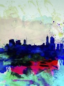 NAXART Studio - Melbourne Watercolor Skyline 2