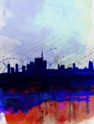 NAXART Studio - Milan Watercolor Skyline