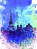 NAXART Studio - Paris Watercolor Skyline