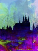 NAXART Studio - Prague Watercolor Skyline