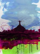 NAXART Studio - Rio Watercolor Skyline