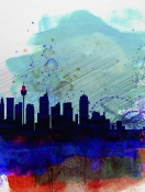 NAXART Studio - Sydney Watercolor Skyline