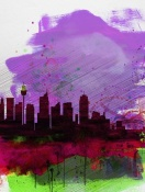 NAXART Studio - Sydney Watercolor Skyline 2