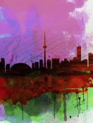 NAXART Studio - Toronto Watercolor Skyline