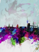 NAXART Studio - Hamburg Watercolor Skyline