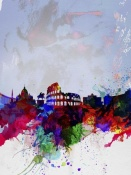 NAXART Studio - Rome Watercolor Skyline