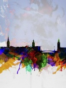 NAXART Studio - Stockholm Watercolor Skyline