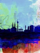 NAXART Studio - Vienna Watercolor Skyline