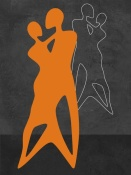 NAXART Studio - Orange Couple Dancing