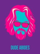 NAXART Studio - Dude Abides Purple Poster