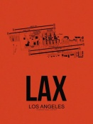 NAXART Studio - LAX Los Angeles Airport Orange