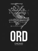 NAXART Studio - ORD Chicago Airport Black