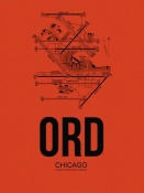 NAXART Studio - ORD Chicago Airport Orange