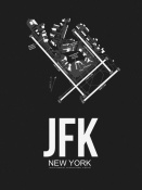 NAXART Studio - JFK New York Airport Black