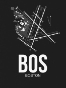 NAXART Studio - BOS Boston Airport Black