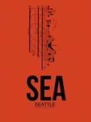 NAXART Studio - SEA Seattle Airport Orange