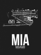 NAXART Studio - MIA Miami Airport Black