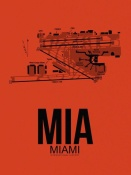 NAXART Studio - MIA Miami Airport Orange