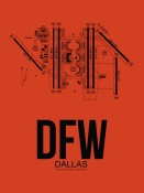 NAXART Studio - DFW Dallas Airport Orange