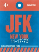 NAXART Studio - JFK New York Luggage Tag 1