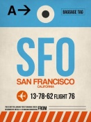 NAXART Studio - SFO San Francisco Luggage Tag 1