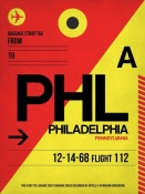 NAXART Studio - PHL Philadelphia Luggage Tag 2