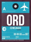 NAXART Studio - ORD Chicago Luggage Tag 1