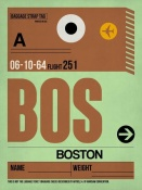 NAXART Studio - BOS Boston Luggage Tag 1