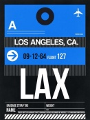 NAXART Studio - LAX Los Angeles Luggage Tag 3