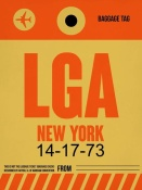 NAXART Studio - LGA New York Luggage Tag 1