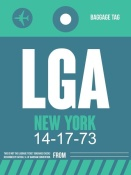 NAXART Studio - LGA New York Luggage Tag 2
