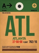 NAXART Studio - ATL Atlanta Luggage Tag 1