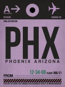 NAXART Studio - PHX Phoenix Luggage Tag 1