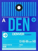 NAXART Studio - DEN Denver Luggage Tag 2