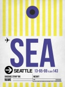 NAXART Studio - SEA Seattle Luggage Tag 1