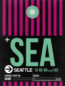 NAXART Studio - SEA Seattle Luggage Tag 2