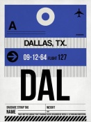 NAXART Studio - DAL Dallas Luggage Tag 1