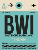 NAXART Studio - BWI Baltimore Luggage Tag 1