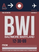 NAXART Studio - BWI Baltimore Luggage Tag 2
