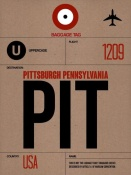 NAXART Studio - PIT Pittsburgh Luggage Tag 1