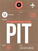 NAXART Studio - PIT Pittsburgh Luggage Tag 2