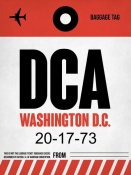 NAXART Studio - DCA Washington Luggage Tag 1