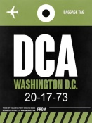 NAXART Studio - DCA Washington Luggage Tag 2